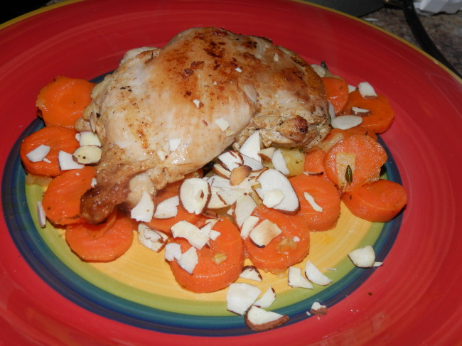 Sauteed Chicken with Ginger Parsnips and Carrots