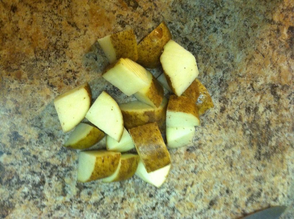 cubbed potatoes