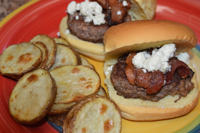 Bacon Blue Cheese Burger Sliders (1)