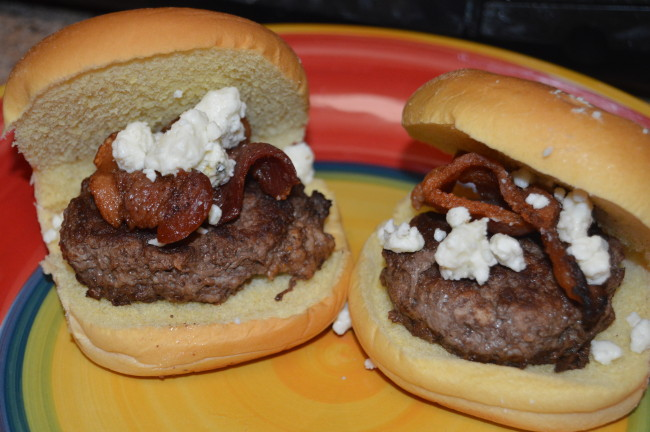 Bacon Blue Cheese Burger Sliders (12)