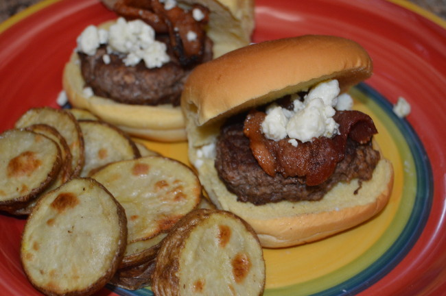 Bacon Blue Cheese Burger Sliders (5)
